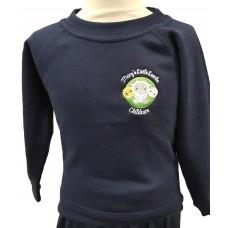 Mary's Little Lamb Nursery - Navy Crew Neck